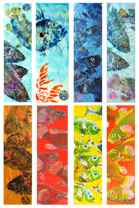 Gyotaku Long Greetings Cards (4 Card Pack)