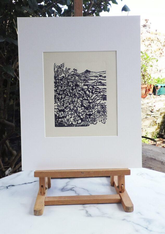 Past Hawthorns - Black On Cream Ingres Paper