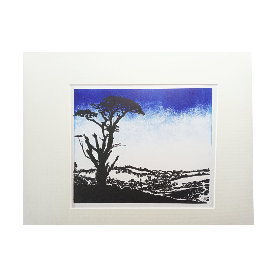 Lone Pine, Red Post - Twilight Blue