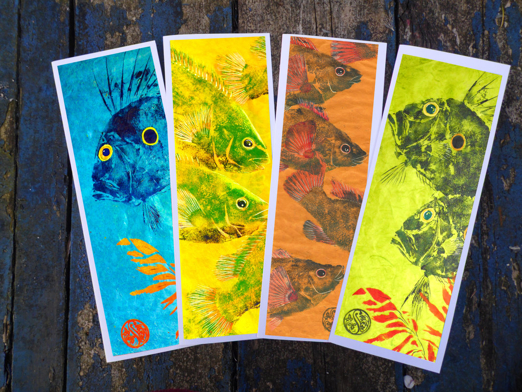 John Dory & Wrasse, Long Greetings Card Pack