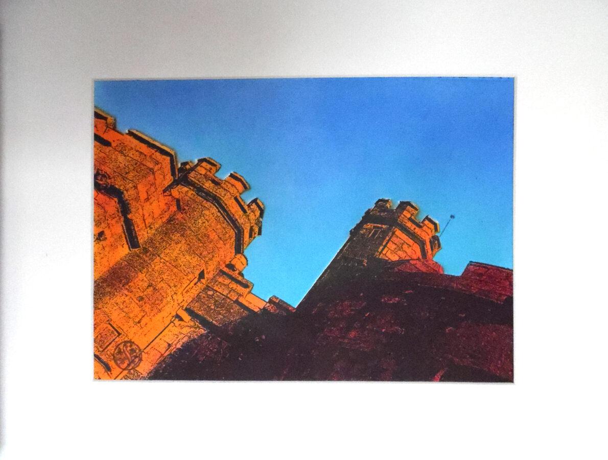 Pendennis Castle,  East Side - Flame Orange & Red