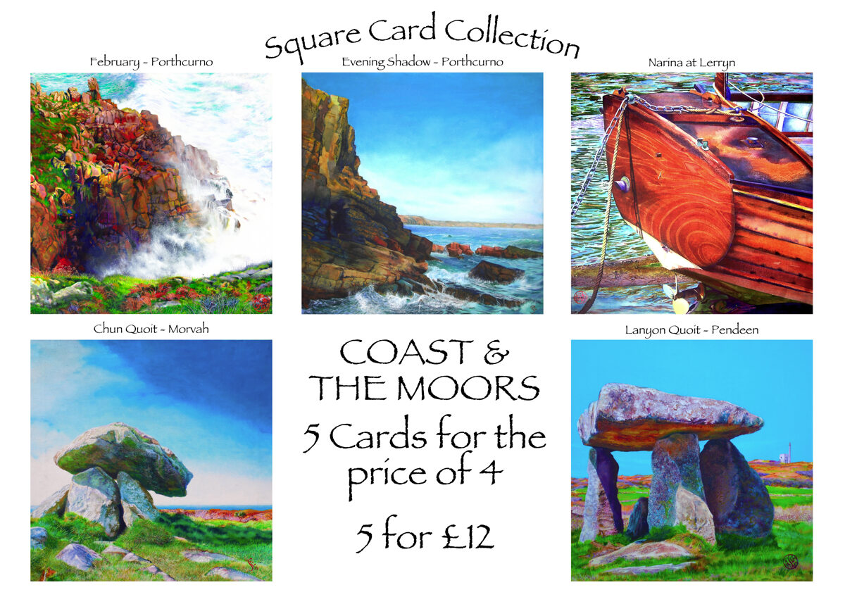 Square Cards - Coasts & The Moors Collection