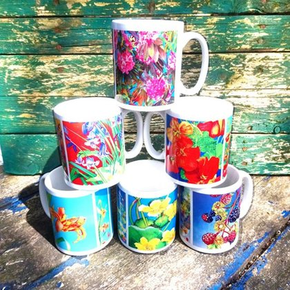 Floral Flower Mugs (Set 2)