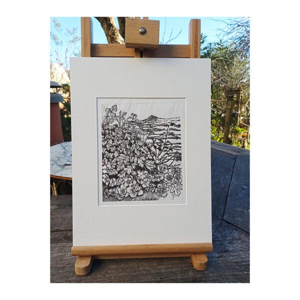 Past Hawthorns - Black On Washi Paper