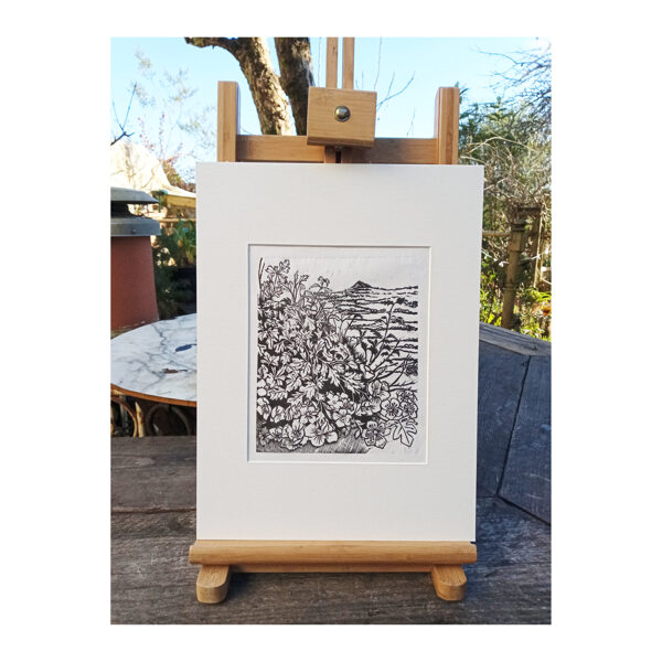 Past Hawthorns - Lino On Washi Paper