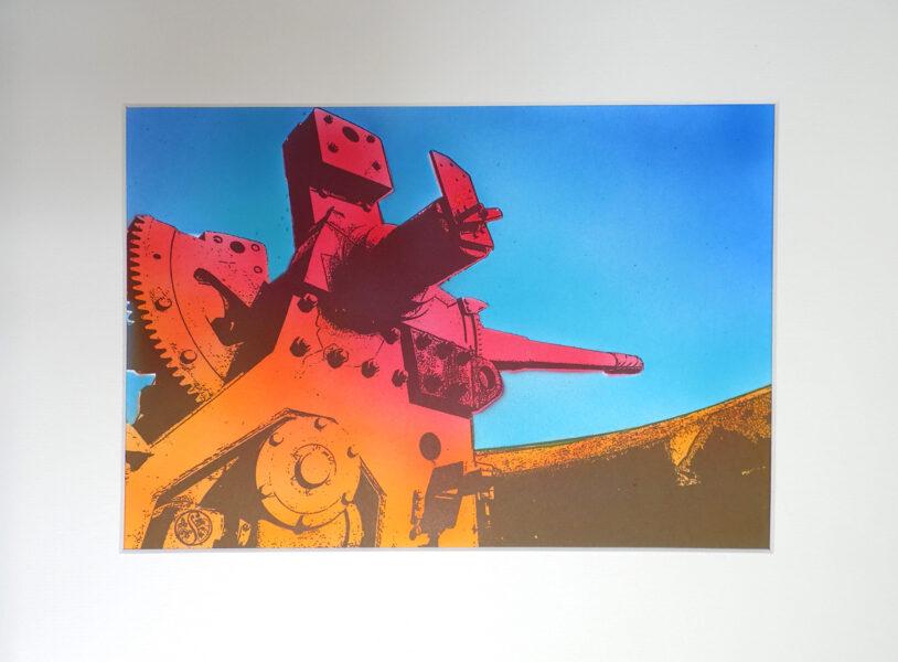 "Pendennis Castle, 6"" Gun - Red & Indian Yellow"
