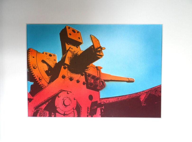"""Pendennis Castle, 6"""" Gun - Indian Yellow, Red & Gunsmoke"""