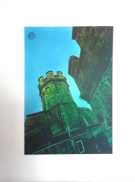Pendennis Castle, Tower In Dark Green & Lime