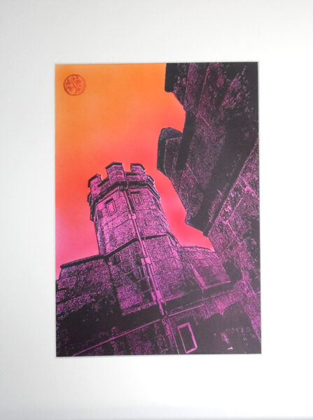 Pendennis Castle, Tower & Flame Sky