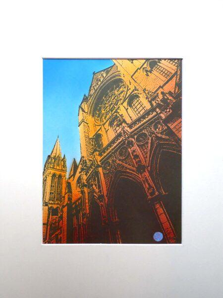 Truro Cathedra, 3 Spires - Orange & Indian Yellow