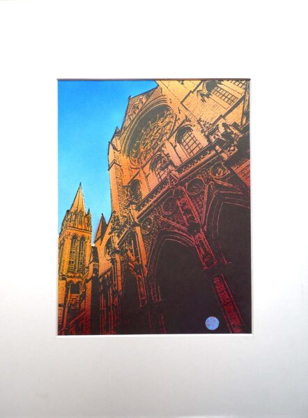 Truro Cathedral, 3 Spires - Indian Yellow & Red