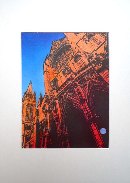 Truro Cathedral, West Rose Window - Orange & Red