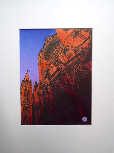 Truro Cathedral, West Rose Window - Orange & Red & Sunset